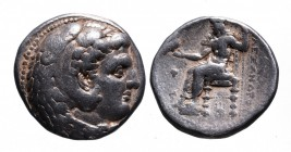 Kings of Macedonia, Alexander III the Great, 336-323 BC, lifetime issue, Babylon Mint, ca. 325-323 BC. Head of Herakles wearing lion's scalp right Zeu...