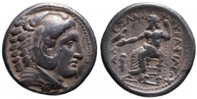 Kings of Macedonia, in the name of Alexander III the Great, 336-323 BC, posthumous issue, Amphipolis Mint, ca. 323-320 BC. Head of Herakles wearing li...
