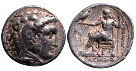 Kings of Macedonia, Alexander III the Great, 336-323 BC, posthumous issue struck under Seleukos I Nikator, Arados Mint, ca. 311-300 BC. Head of Herakl...