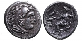 Kings of Macedonia, Alexander III the Great, 336-323 BC, lifetime issue, Magnesia ad Meandrum Mint, ca. 325-323 BC. Head of Herakles wearing lion's sc...