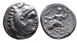 Kings of Macedonia, Philip III Arrhidaeus, 323-317 BC, Sardes Mint, ca. 323-319 BC. Head of Herakles wearing lion's scalp right Zeus seated left, hold...