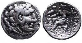 Kings of Macedonia, Alexander III the Great, 336-323 BC, imitative issue of uncertain Western Asia Minor Mint, late IV-early III BC. Head of Herakles ...