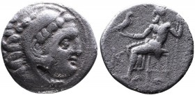 Kings of Macedonia, Alexander III the Great, 336-323 BC, posthumous issue, Colophon Mint, ca. 310-301 BC. Head of Herakles wearing lion's scalp right ...