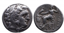 Kings of Macedonia, Alexander III the Great, 336-323 BC, posthumous issue struck under Philip III, Colophon Mint, ca. 323-319 BC. Head of Herakles wea...