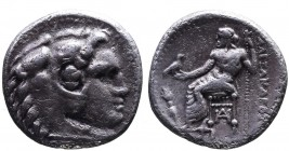 Kings of Macedonia, Alexander III the Great, 336-323 BC, lifetime issue, Miletus Mint, ca. 325-323 BC. Head of Herakles wearing lion's scalp right Zeu...