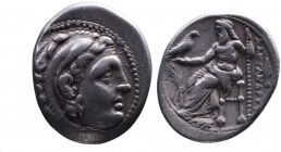 Kings of Macedonia, Alexander III the Great, 336-323 BC, posthumous issue struck under Philip III, Teos Mint, ca. 323-319 BC. Head of Herakles wearing...