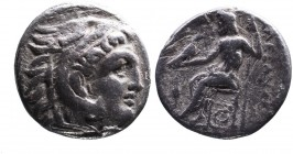 Kings of Macedonia, Alexander III the Great, 336-323 BC, posthumous issue struck under Antigonos I Monophthalmos, Lampsakos Mint, ca. 310-301BC. Head ...