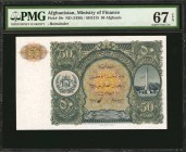 AFGHANISTAN. Ministry of Finance. 50 Afghanis, ND (1936). P-19r. Remainder. PMG Superb Gem Uncirculated 67 EPQ.