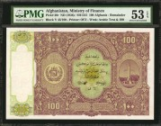 AFGHANISTAN. Ministry of Finance. 100 Afghanis, ND (1936). P-20r. Remainder. PMG About Uncirculated 53 EPQ.