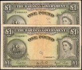 BAHAMAS. Government of the Bahamas. 1 Pound, 1936 (ND 1953). P-15d. Very Fine.