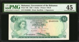 BAHAMAS. Government of the Bahamas. 1 Dollar, 1965. P-18b. PMG Choice Extremely Fine 45.