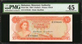BAHAMAS. Monetary Authority. 5 Dollars, 1968. P-29a. PMG Choice Extremely Fine 45.