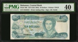 BAHAMAS. Central Bank of the Bahamas. 10 Dollars, 1974 (ND 1984). P-46b. PMG Extremely Fine 40.