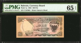BAHRAIN. Currency Board. 100 Fils, 1964. P-1a. PMG Gem Uncirculated 65 EPQ.