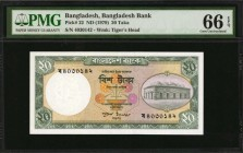 BANGLADESH. Bangladesh Bank. 20 Taka, ND (1979). P-22. PMG Gem Uncirculated 66 EPQ.