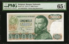 BELGIUM-REPLACEMENT. Banque Nationale. 5000 Francs, 1971-77. P-137/RF2. PMG Gem Uncirculated 65 EPQ.