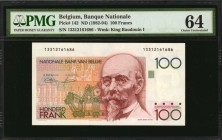 BELGIUM. Banque Nationale. 100 Francs, ND (1982-94). P-142. PMG Choice Uncirculated 64.
