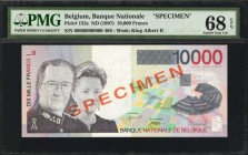 BELGIUM. Banque Nationale de Belgique. 10,000 Francs, ND (1997). P-152s. Specimen. PMG Superb Gem Uncirculated 68 EPQ.