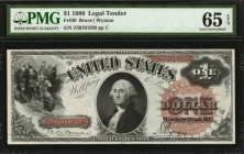 Fr. 30. 1880 $1 Legal Tender Note. PMG Gem Uncirculated 65 EPQ.