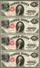 Lot of (4) Fr. 39. 1917 $1 Legal Tender Notes. Very Fine to Extremely Fine.