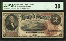 Fr. 52. 1880 $2 Legal Tender Note. PMG Very Fine 30.