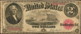Fr. 57. 1917 $2 Legal Tender Note. Fine.