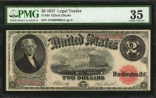 Fr. 58. 1917 $2 Legal Tender Note. PMG Choice Very Fine 35.