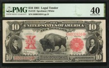 Fr. 122. 1901 $10 Legal Tender Note. PMG Extremely Fine 40.
