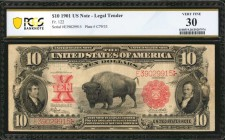 Fr. 122. 1901 $10 Legal Tender Note. PCGS Banknote Very Fine 30.