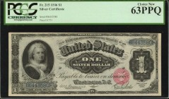 Fr. 215. 1886 $1 Silver Certificate. PCGS Currency Choice New 63 PPQ.