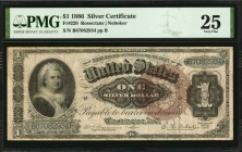 Fr. 220. 1886 $1 Silver Certificate. PMG Very Fine 25.
