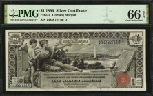 Fr. 224. 1896 $1 Silver Certificate. PMG Gem Uncirculated 66 EPQ.