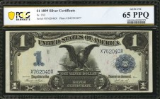 Fr. 233. 1899 $1 Silver Certificate. PCGS Banknote Gem Uncirculated 65 PPQ.