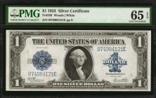 Fr. 238. 1923 $1 Silver Certificate. PMG Gem Uncirculated 65 EPQ.