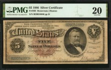 Fr. 263. 1886 $5 Silver Certificate. PMG Very Fine 20.