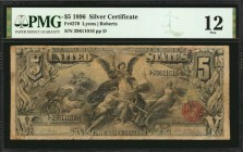 Fr. 270. 1896 $5 Silver Certificate. PMG Fine 12.