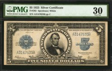 Fr. 282. 1923 $5 Silver Certificate. PMG Very Fine 30.