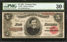Fr. 363. 1891 $5 Treasury Note. PMG Very Fine 30 EPQ.