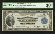 Fr. 713. 1918 $1 Federal Reserve Bank Note. New York. PMG Very Fine 30 EPQ.