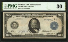 Fr. 1068. 1914 $50 Federal Reserve Note. San Francisco. PMG Very Fine 30.