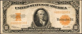 Fr. 1173. 1922 $10 Gold Certificate. Very Fine.