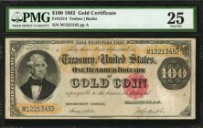 Fr. 1214. 1882 $100 Gold Certificate. PMG Very Fine 25.