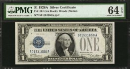 Fr. 1601. 1928A $1 Silver Certificate. PMG Choice Uncirculated 64 EPQ.