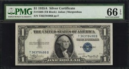 Fr. 1608. 1935A $1 Silver Certificate. PMG Gem Uncirculated 66 EPQ.