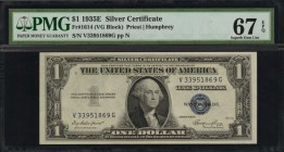 Fr. 1614. 1935E $1 Silver Certificate. PMG Superb Gem Uncirculated 67 EPQ.