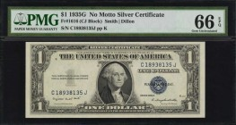Fr. 1616. 1935G $1 Silver Certificate. PMG Gem Uncirculated 66 EPQ.