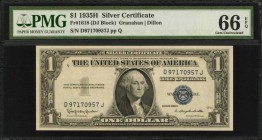 Fr. 1618. 1935H $1 Silver Certificate. PMG Gem Uncirculated 66 EPQ.