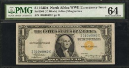 Fr. 2306. 1935A $1 North Africa Emergency Note. PMG Choice Uncirculated 64.
