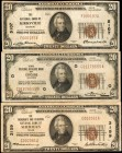 Lot of (3). Fr. 1802-2 & Fr. 1870-G. 1929 & 1929 Ty. 1. $20. Very Fine.