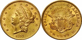 1857 Liberty Head Double Eagle. Mint State (Uncertified).